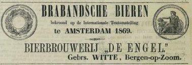 Brabandsche Bieren (Advertentie uit de Zierikzeesche Courant van 1869)