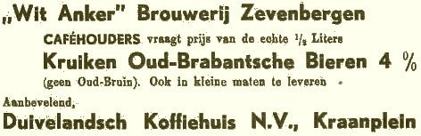 "Advertentie ""Wit Anker"" (1939)"